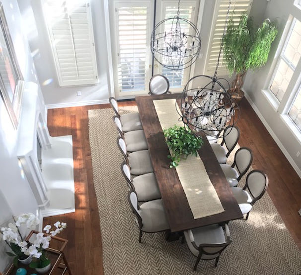 Top view of dining room in Casabella Project