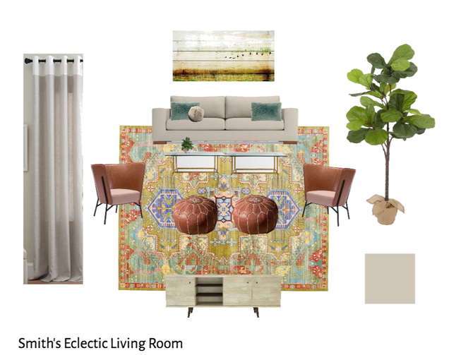 E Design - The Smith's Eclectic Living Room
