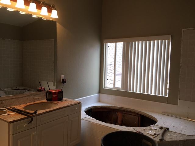Bathroom remodel Demo day at #oceanstreetproject