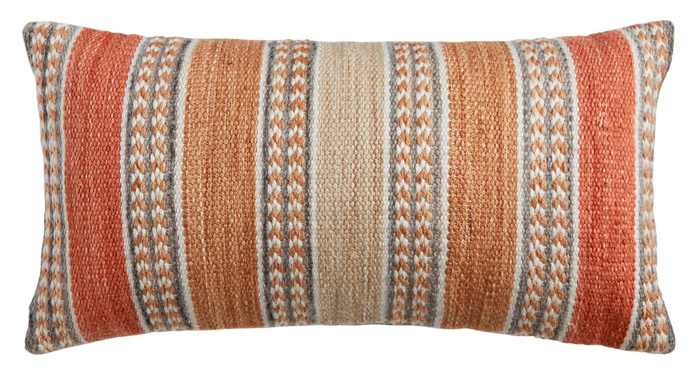 Striped Spice Indoor Outdoor Lumbar Pillow