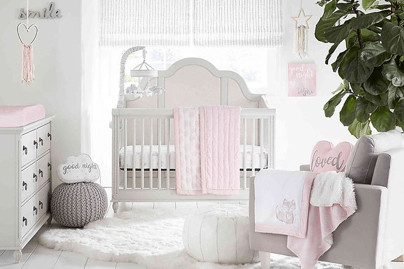 Wendy Bellissimo™ Mix & Match Lil Fox Crib Bedding Collection in Pink