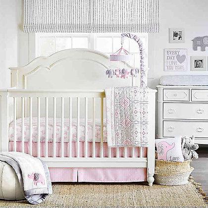 Wendy Bellissimo™ Elodie 4-Piece Crib Bedding Set in Pink/White