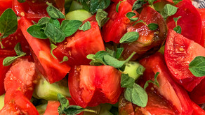 Chilled Tomato and Cucumber Salad