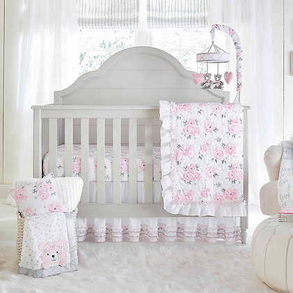 Wendy Bellissimo™ Mix & Match Floral Pink Crib Bedding Collection