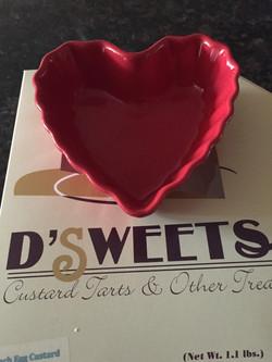 Valentines Custard Tart