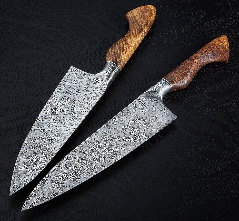 stainless-steel-damascus-chef-groupshot.