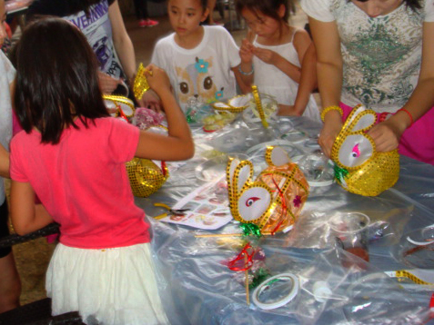 A lantern making party