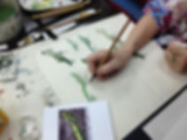Adult Chinese painting lesson
