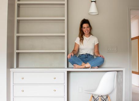DIY Built-In Ikea Bookcase
