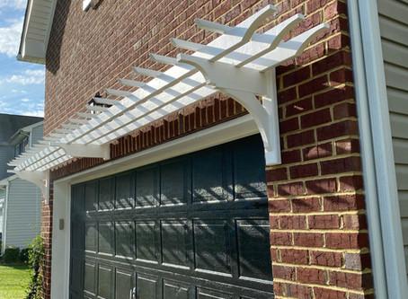 DIY Garage Pergola
