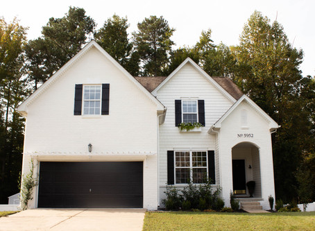 Exterior Paint DIY - Painting our Brick and Vinyl Siding