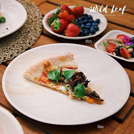 "9"" Wild Leaf Disposable Plates"