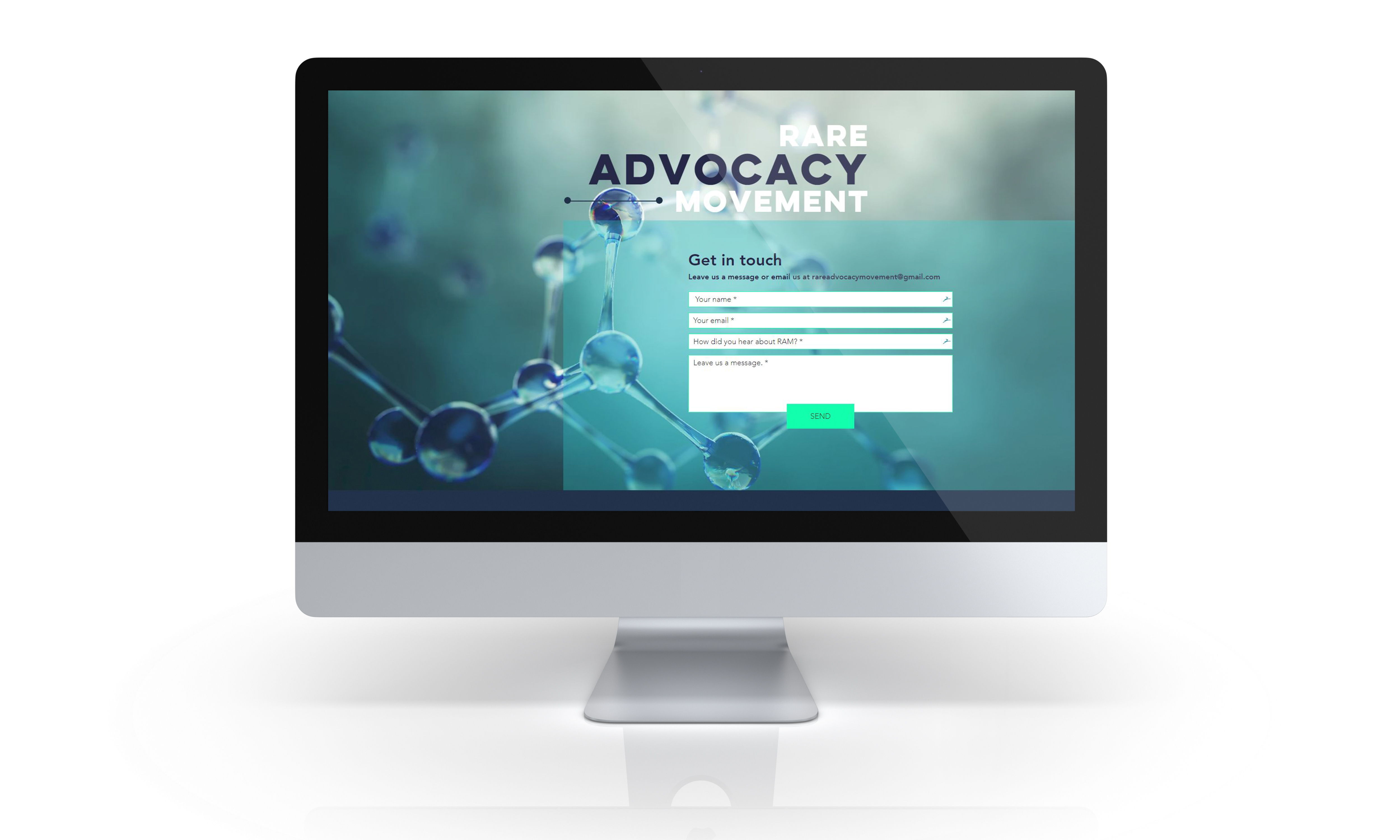 Contact Page of Website