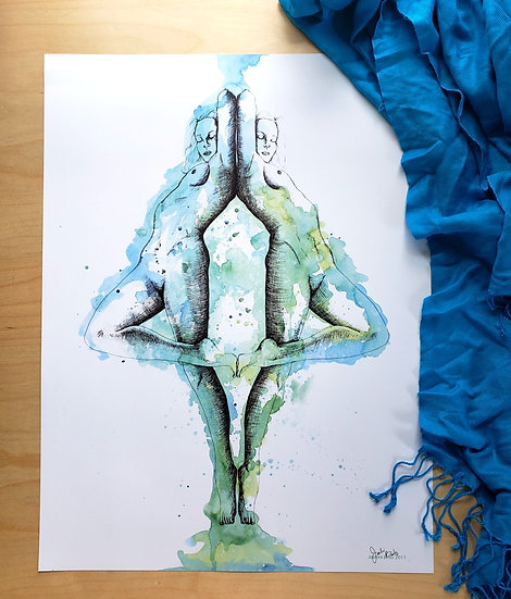 Shades of Blue & Green (18x24 Poster)