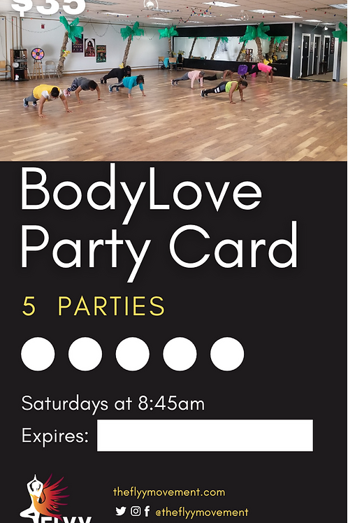 BodyLove Party Card