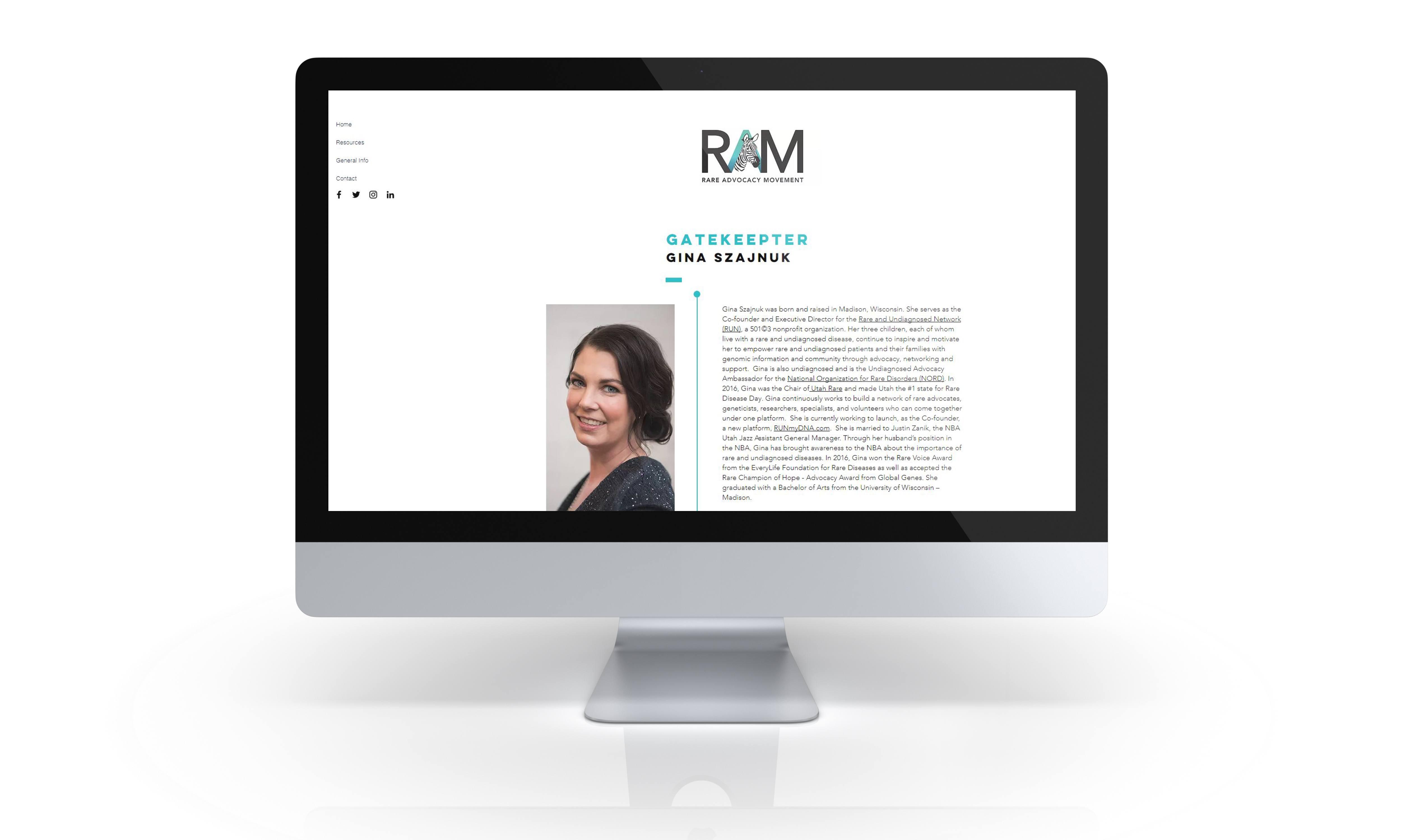 Profile Page in Website