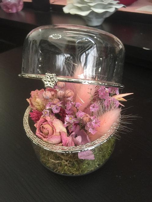 Coffret verre fleurs séchées