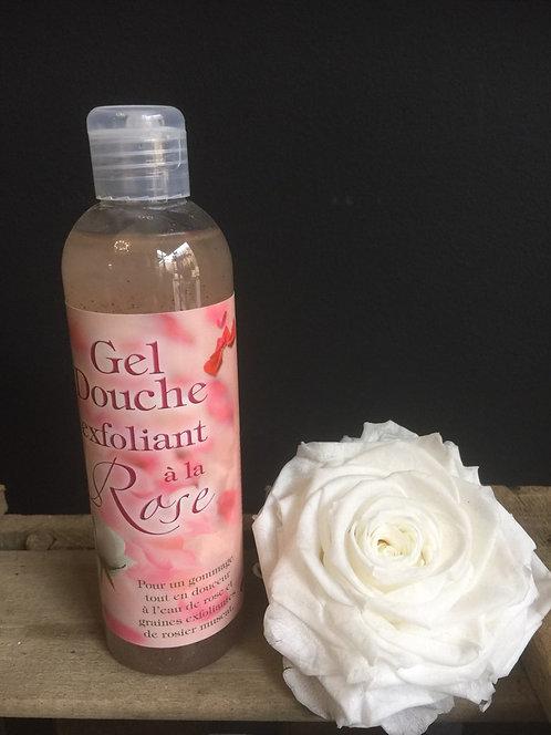 Gel douche exfoliant à la Rose