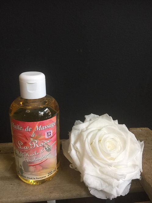 Huile de massage parfumée à la Rose