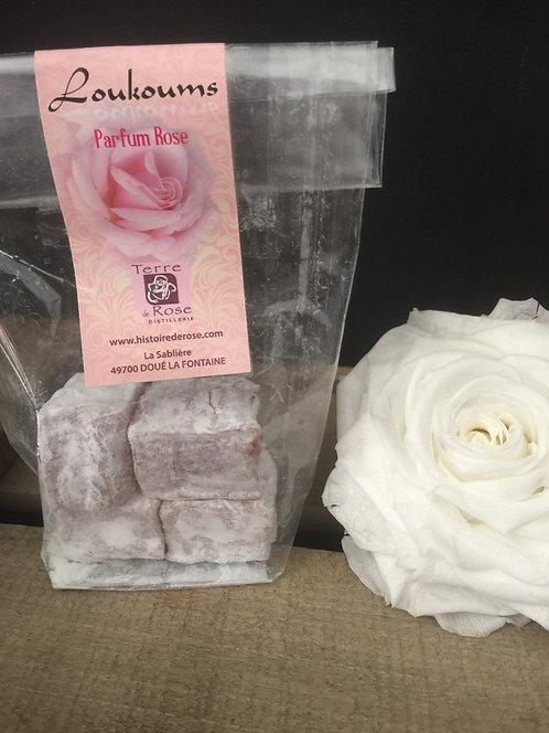 Loukoums parfumés à la Rose