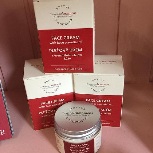Crème visage régénérante et hydratante à la Rose