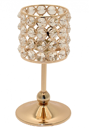 CA1 Gold candle holders hire