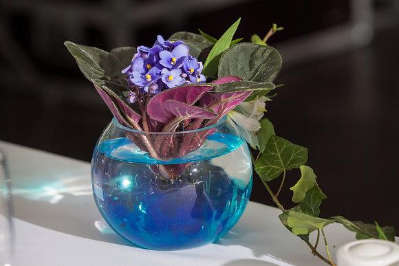 SH9 Boutique flowers in fish bowl vase