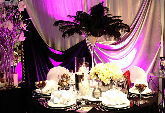 1ft Feather centrepiece hire