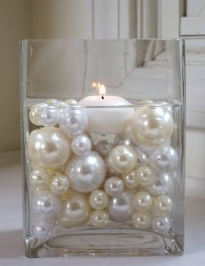 PS1 Short square pearl centrepieces