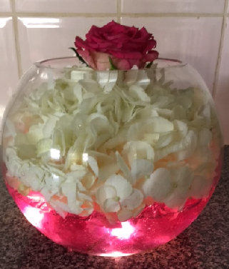 FB1L Fish bowl centrepiece with lights