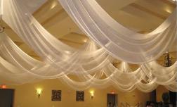 D1 Ceiling drape hire