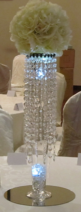 Crystal Flower ball centrepieces