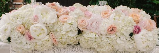 Hydrangea head table flowers