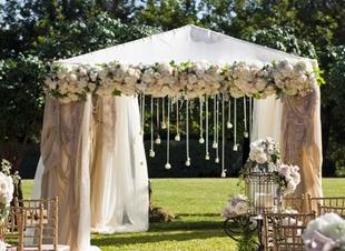 CA1 Fresh flower canopy decorations