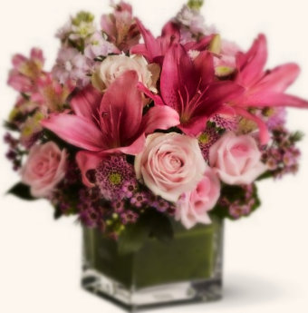 SH17 Pink shade flower arrangments