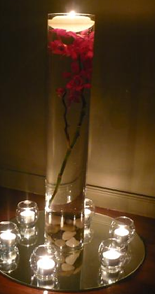 80cms Tall candle centrepiece