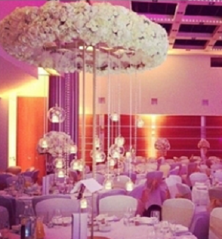 Halo tall flower centrepieces