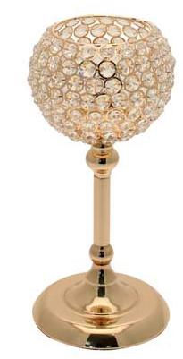 Globe gold centrepiece hire