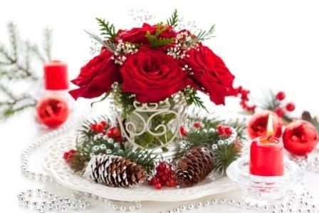 CH1 Christmas flower arrangements