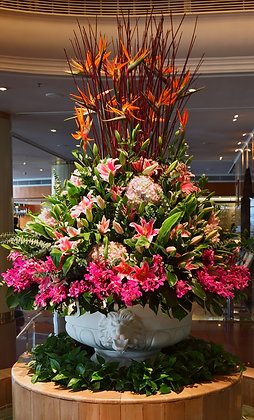 Flowers for reception areas