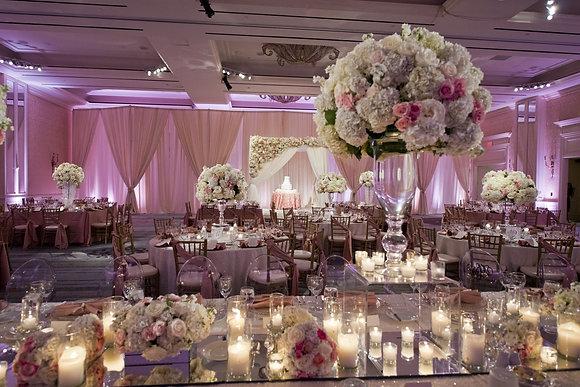 t140 Luxury flower centrepieces