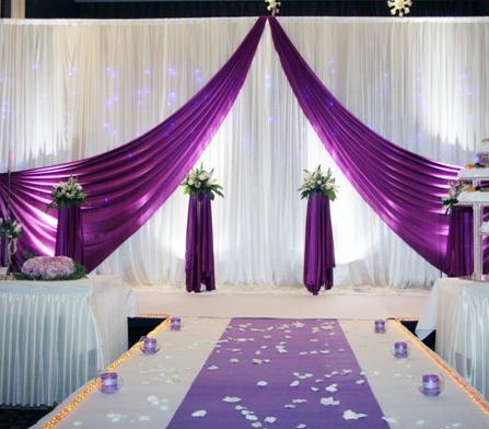 PBH-Purple backdrop hire