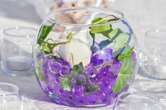 SH24 Fish bowl flower centrepiece