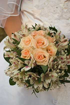 W15  Bridal flower bouquet
