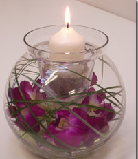 FW3  Fish bowl candle display
