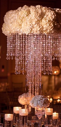 Halo chandelier centrepieces