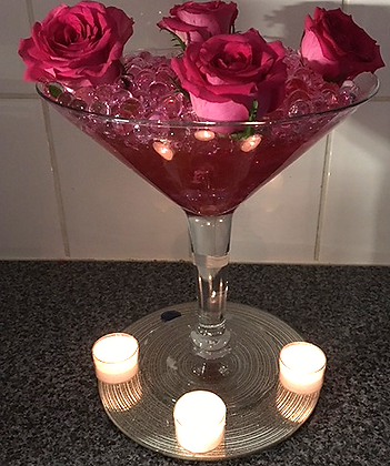 Roses with candles