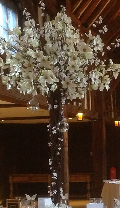 ACT4- 5ft blossom tree centrepiece hire