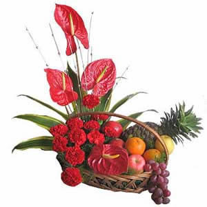 FFC1 Festive  fruit basket