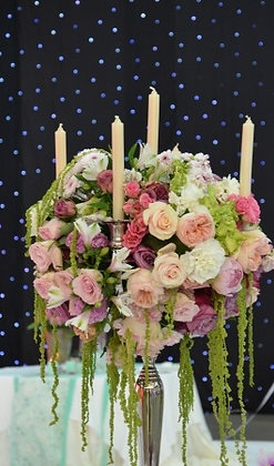 T139  Large candle flower display